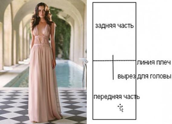 Как сшить свадебное длинное греческое платье в пол своими руками.