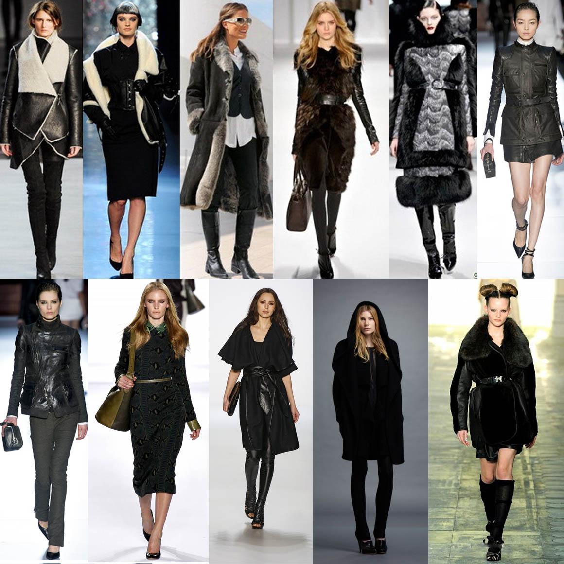 Черные цвета зимней одежды всегда в моде