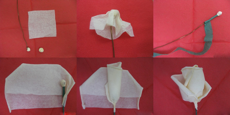 Сделать розу из салфетки своими руками