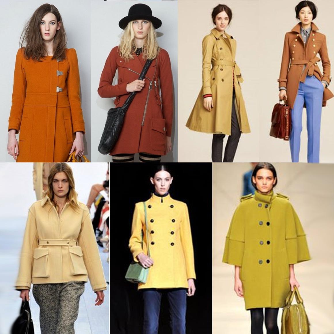 Желтый в моде среди зимней одежды