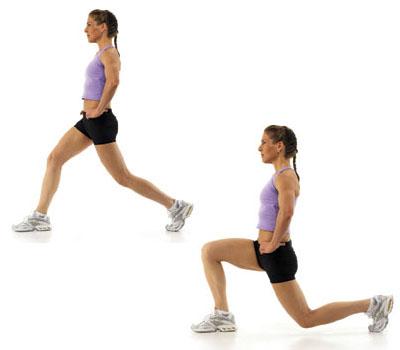 Упражнение выпад ногой