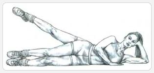 Махи ногой лежа на боку