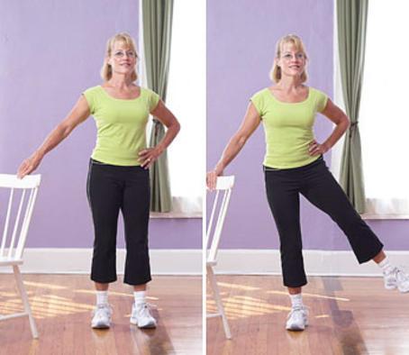 Упражнение - мах ногами