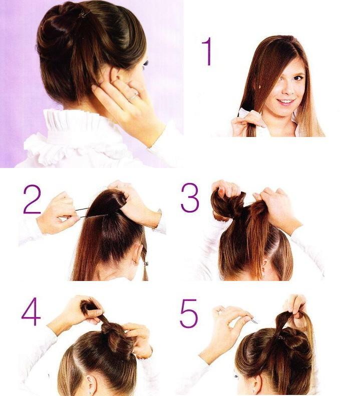 Причёски на каждый день для длинных волос инструкция