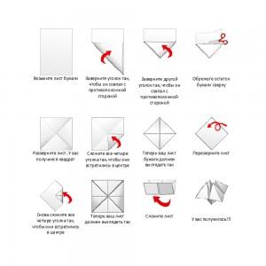 Как сделать из бумаги гадалку