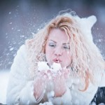 Зимняя уличная фотосессия позы