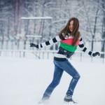 Фотосессия на улице зимой позы