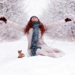 Идеи для фотосессии на улице зимой