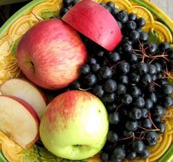 варенье из черноплодной рябины и яблок